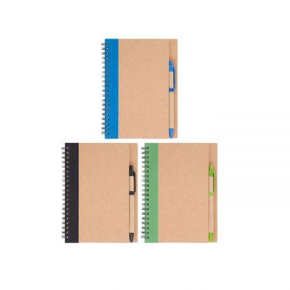 Libretas ecológicas con detalles de color