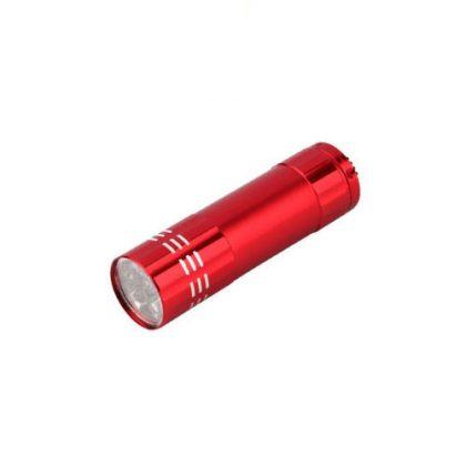 linterna metálica roja