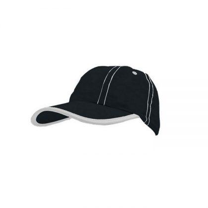 Gorra de microfibra negra