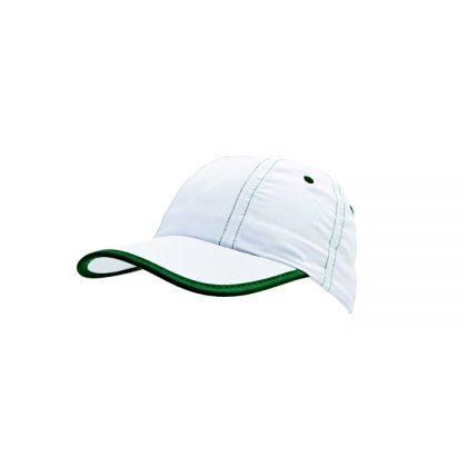 Gorra de microfibra con detalle en verde