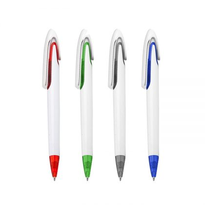 Bolígrafo plástico con detalle de color