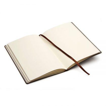 Cuaderno de cuero Pampero abierto