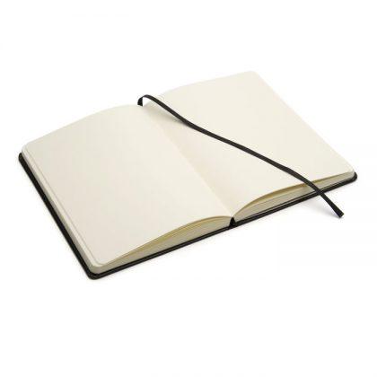 Cuaderno de cuero tapa dura abierto