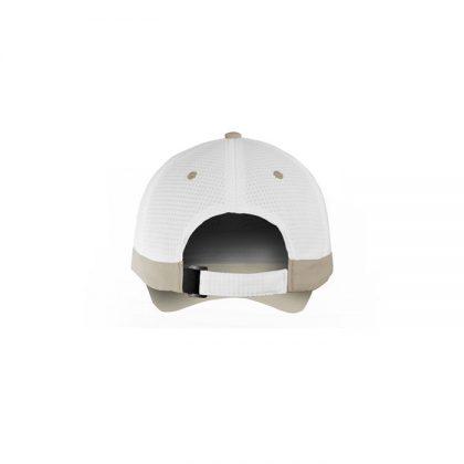Gorra de microfibra blanca con detalle claro