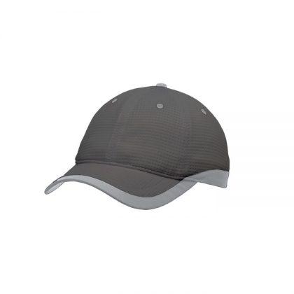 Gorra de microfibra gris