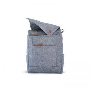 Mochila Urbana gris abierta