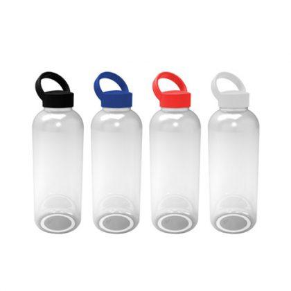 Botella de plástico con tapa de color