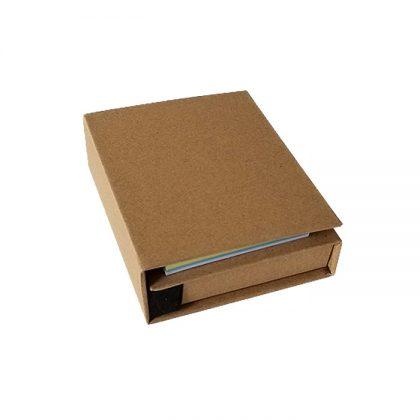 Set de notas ecológico cerrado con bolígrafo