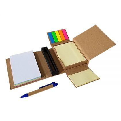 Set de notas ecológico con bolígrafo