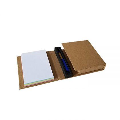 Set de notas ecológico desplegable con bolígrafo