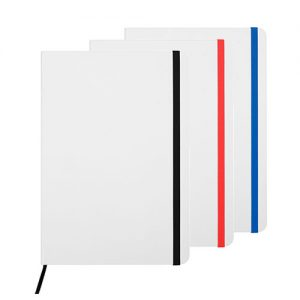 Libreta blanca cond etalles de color