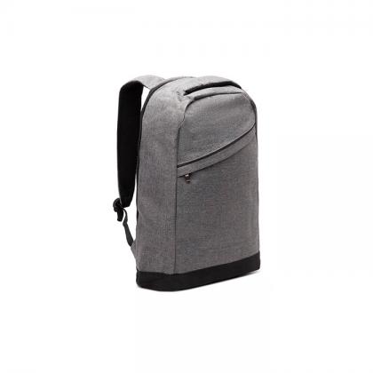 mochila duomo gris con cierres metalicos de costado