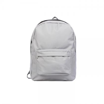 mochila frente gris