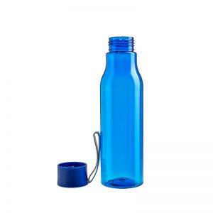 Botella con tapa de plástico y tira de silicona
