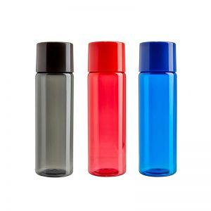 Botella plástica de colores