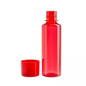 Botella roja con tapa plástica