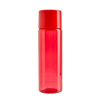 Botella roja con tapa