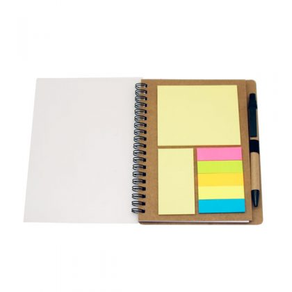 Libreta con post it y tapa transparente